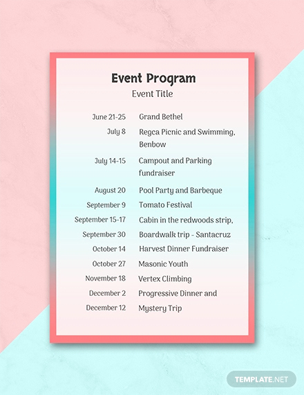 Free event Program Templates Lovely Free event Program Template Download 31 Program