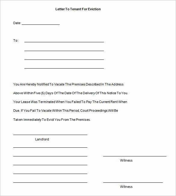 Free Eviction Notice Template Awesome 38 Eviction Notice Templates Pdf Google Docs Ms Word