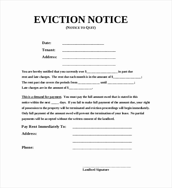 Free Eviction Notice Template New 38 Eviction Notice Templates Pdf Google Docs Ms Word