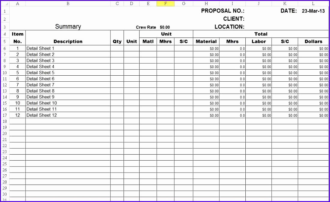 Free Excel Construction Templates Elegant 7 Free Excel Construction Schedule Template