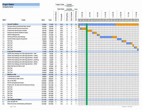 Free Excel Construction Templates Elegant Download Construction Schedule Excel Template Free