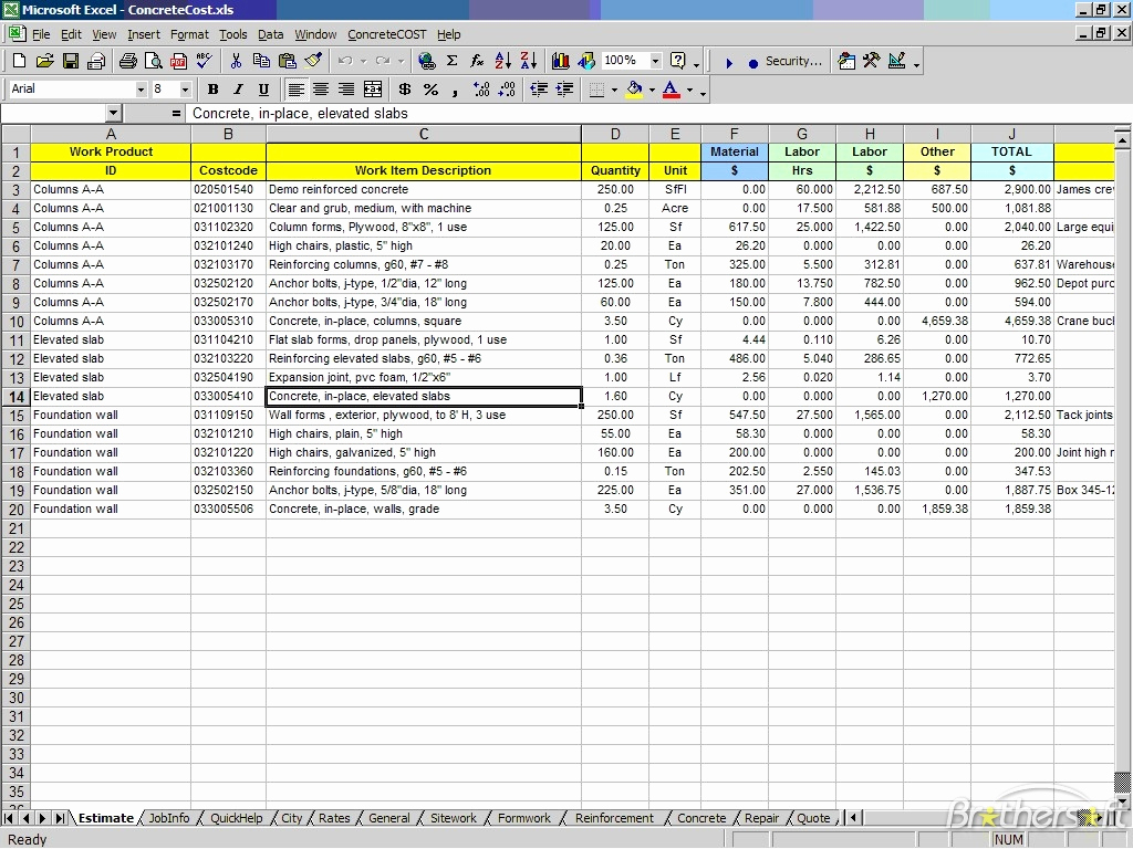 Free Excel Construction Templates Luxury Free Construction Estimate Template Excel