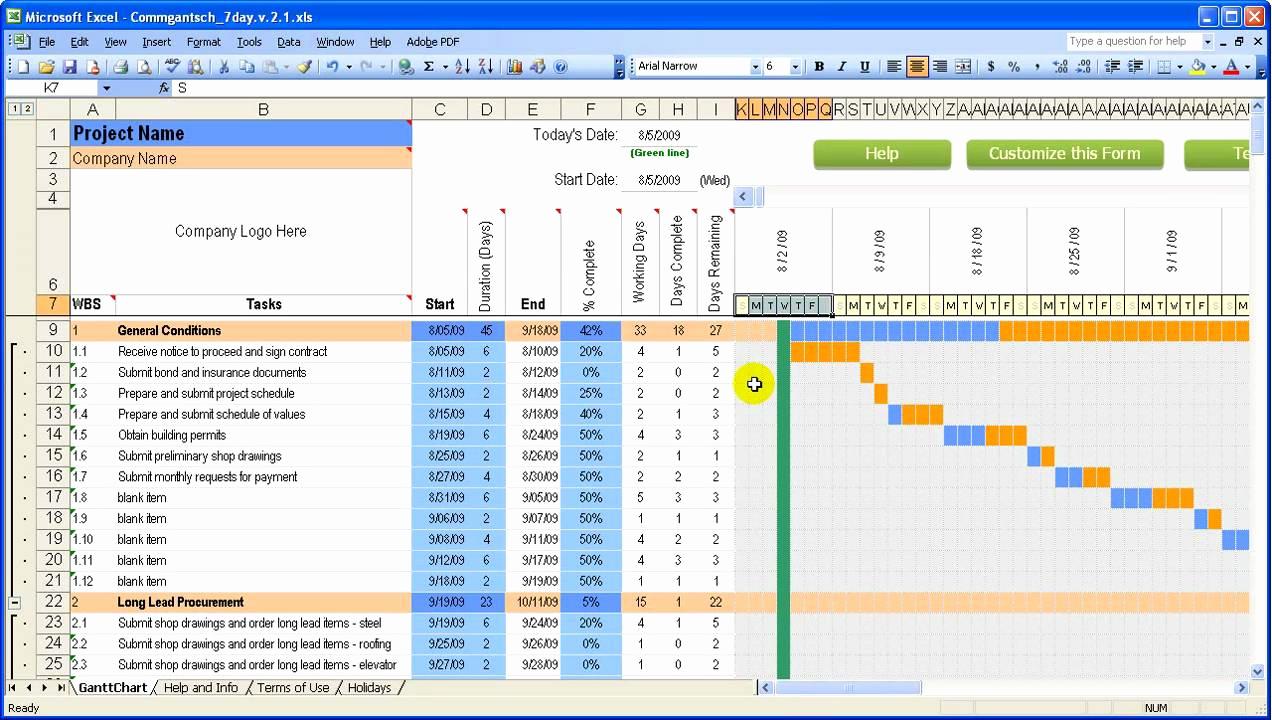 Free Excel Construction Templates Unique Construction Schedule Template
