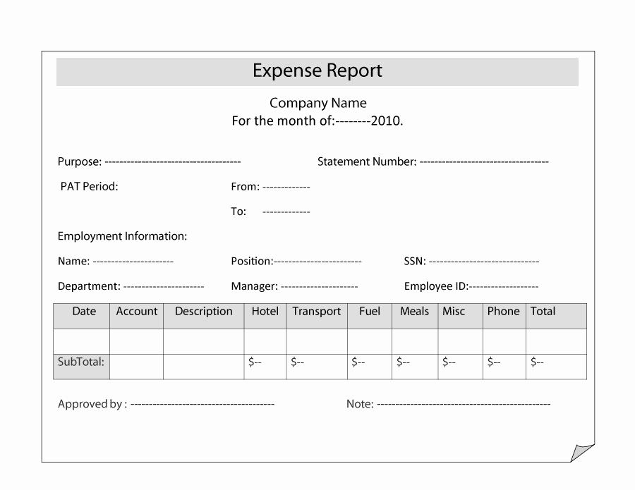 Free Expense Report Template Awesome 40 Expense Report Templates to Help You Save Money