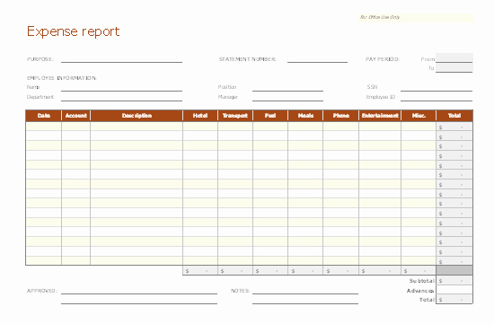 Free Expense Report Template Best Of Expense Report
