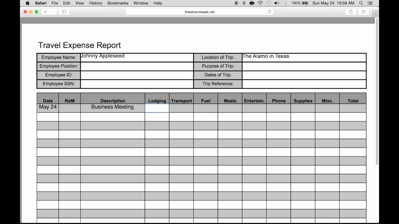 Free Expense Report Template Fresh How to Fill In A Free Travel Expense Report Pdf
