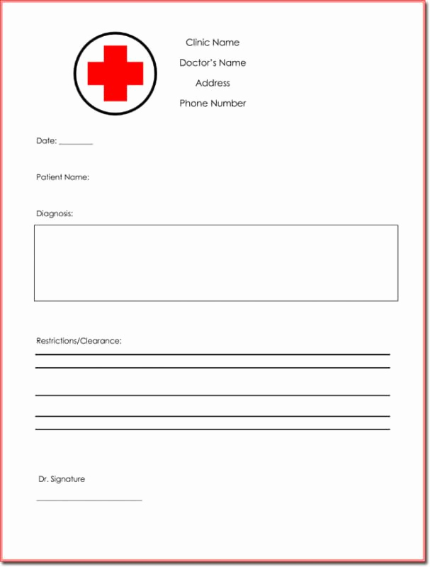 Free Fake Doctors Note Luxury Fake Doctors Note Template