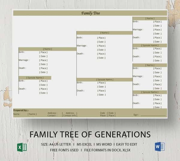 Free Family Tree Template Excel Best Of Simple Family Tree Template 25 Free Word Excel Pdf