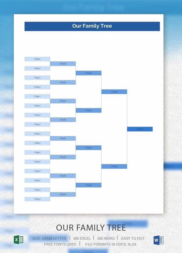 Free Family Tree Template Excel Elegant Simple Family Tree Template 25 Free Word Excel Pdf