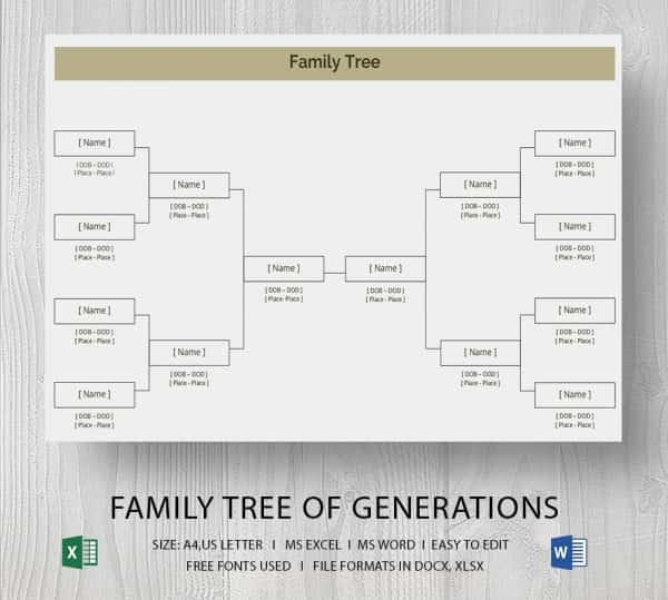 Free Family Tree Template Excel Inspirational Simple Family Tree Template 25 Free Word Excel Pdf