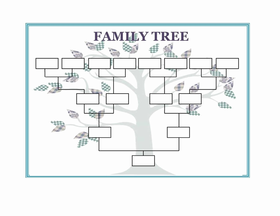 Free Family Tree Template Excel Unique Family Tree Template Word