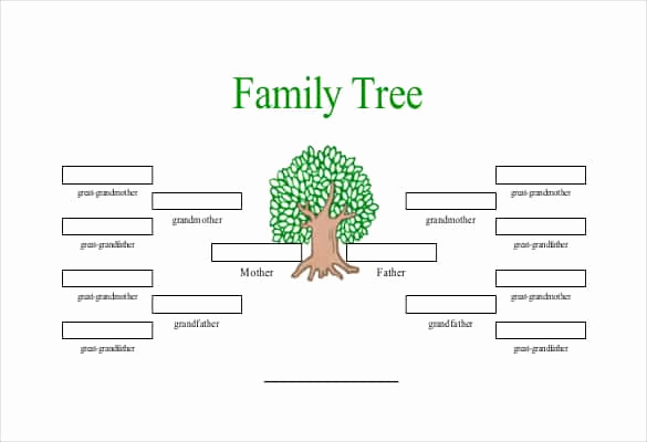 Free Family Tree Template Word Elegant Simple Family Tree Template 27 Free Word Excel Pdf