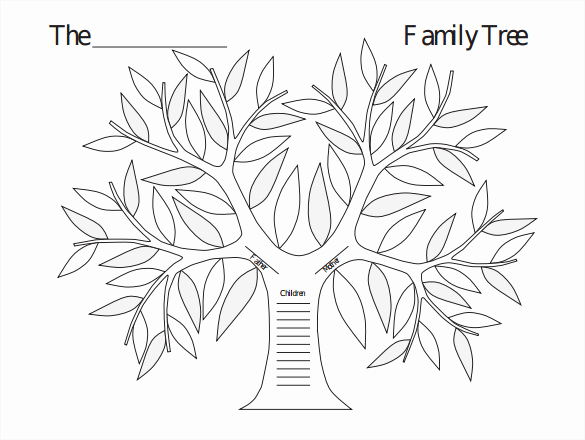 Free Family Tree Template Word Luxury Blank Family Tree Template 32 Free Word Pdf Documents