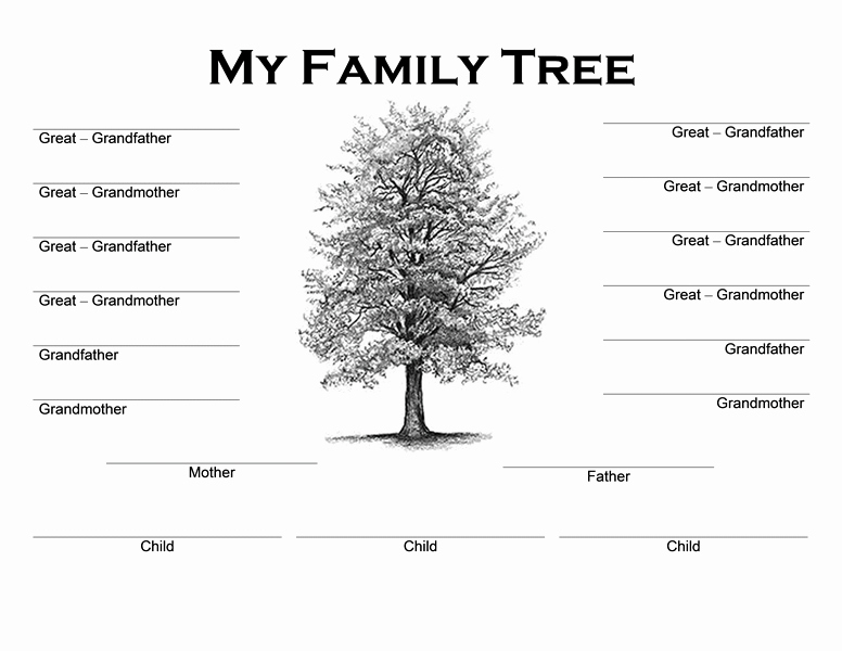 Free Family Tree Templates Beautiful Family Tree Templates Word Word Excel Samples