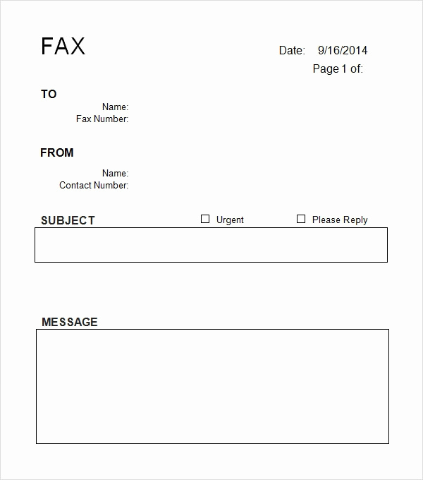 Free Fax Cover Sheets New Sample Cover Sheet Template 9 Free Documents Download