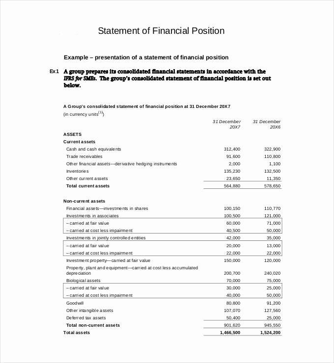 Free Financial Statement Template Fresh 30 Financial Statement Templates Pdf Doc