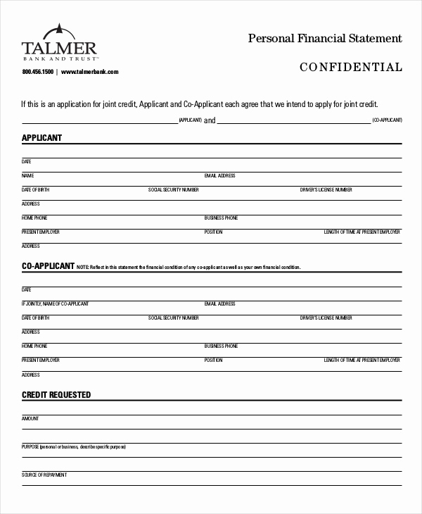 Free Financial Statement Template Unique Personal Financial Statement 9 Free Excel Pdf