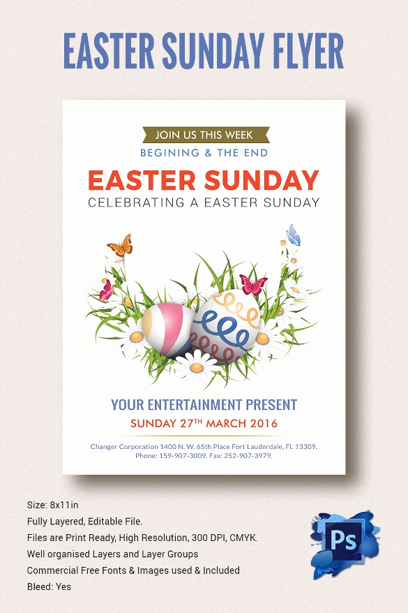 Free Flyer Template Downloads Beautiful 28 Easter Flyer Templates to Download