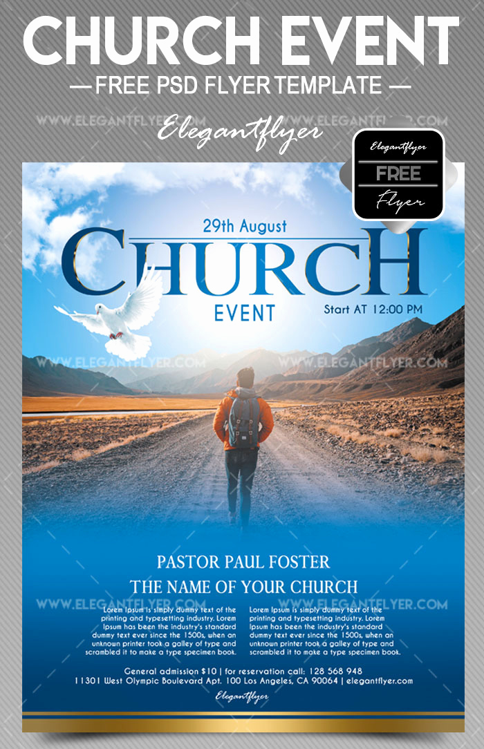 Free Flyer Template Downloads Elegant 34 Free Psd Church Flyer Templates In Psd for Special