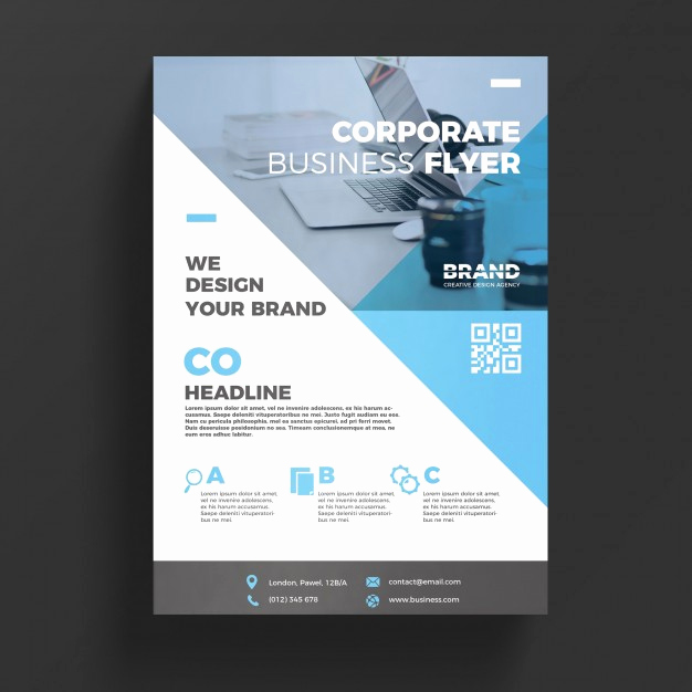 Free Flyer Template Downloads Elegant Blue Corporate Business Flyer Template Psd File