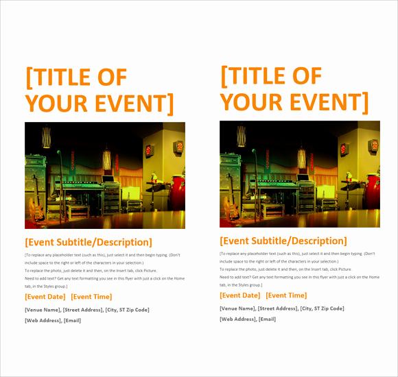 Free Flyer Template Downloads Inspirational 12 Microsoft Flyer Templates Download Free Documents In