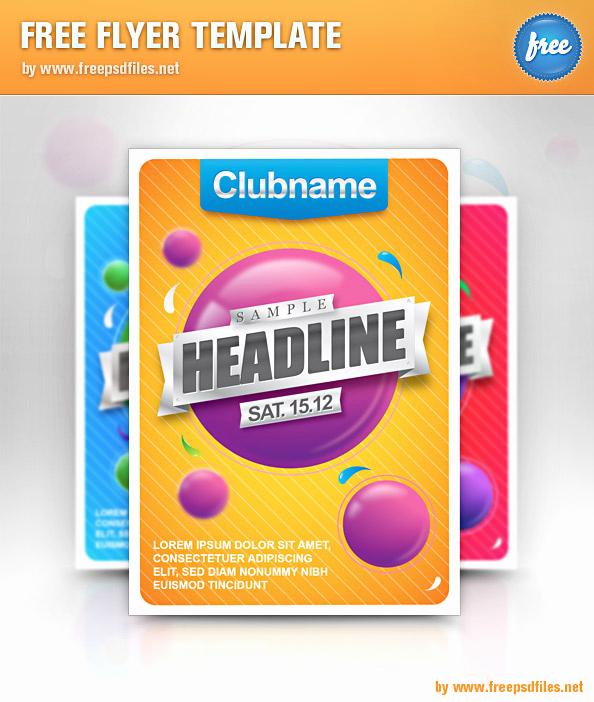 Free Flyer Template Downloads Inspirational Free Flyer Template Free Psd Files