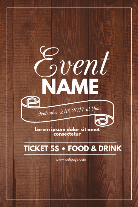 Free Flyer Template Downloads Lovely Wood event Flyer Template