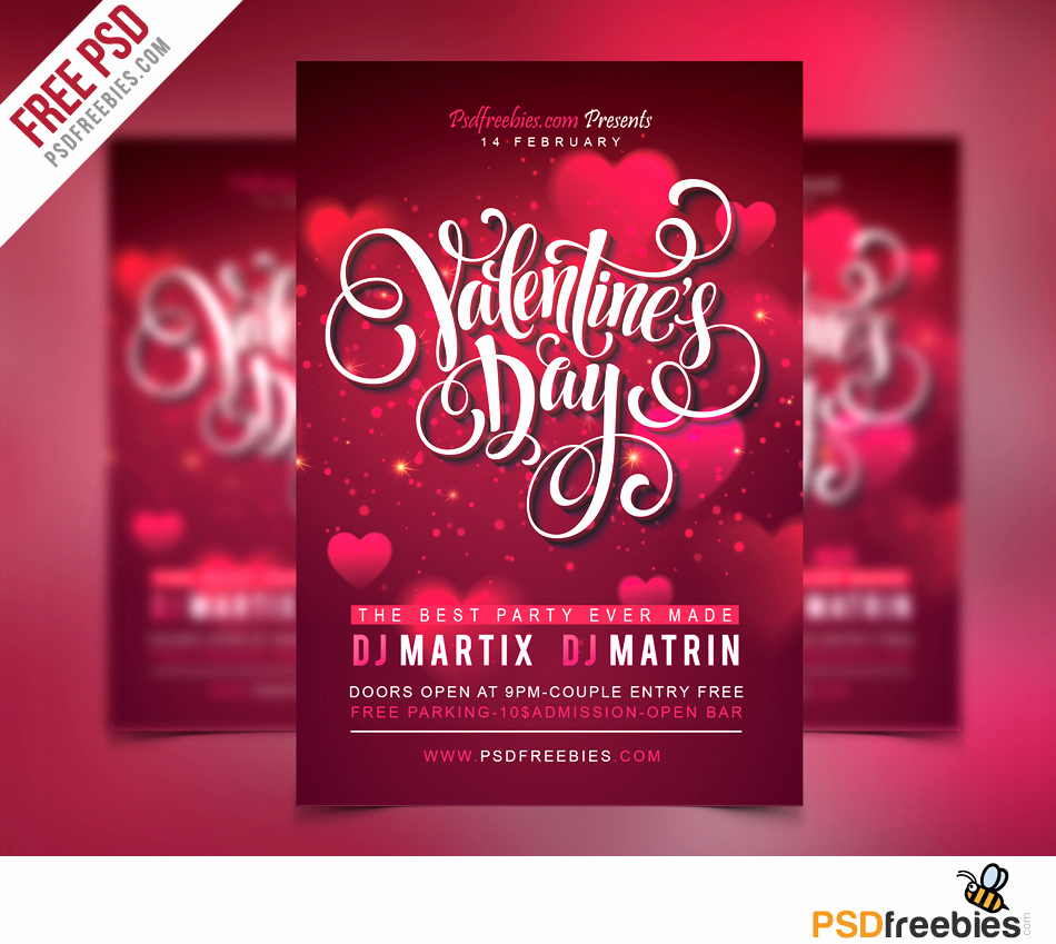 Free Flyer Template Downloads Luxury Free Valentines Party Flyer Psd Template