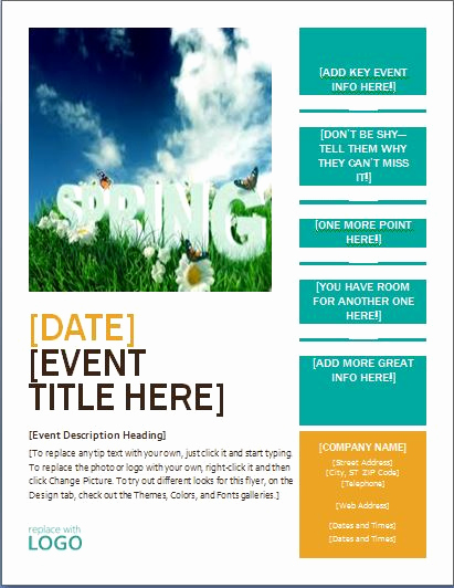 Free Flyer Templates for Word Awesome Ms Word Seasonal event Flyer Templates