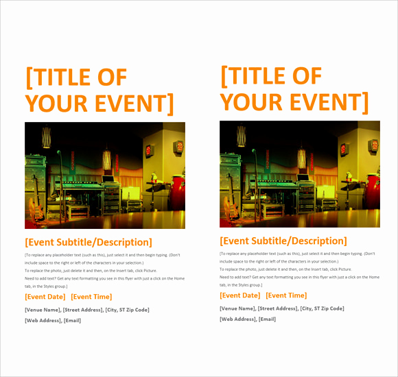 Free Flyer Templates for Word Elegant 12 Microsoft Flyer Templates Download Free Documents In