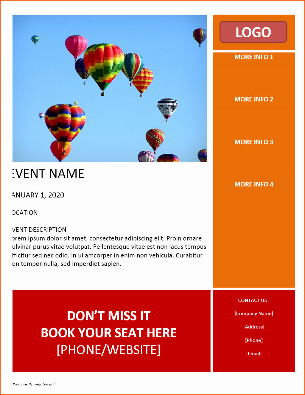 Free Flyer Templates for Word Fresh 7 Free Flyer Templates Word Bookletemplate