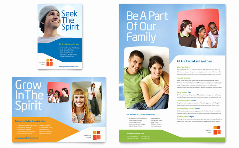 Free Flyer Templates for Word Unique Church Youth Ministry Flyer & Ad Template Word & Publisher
