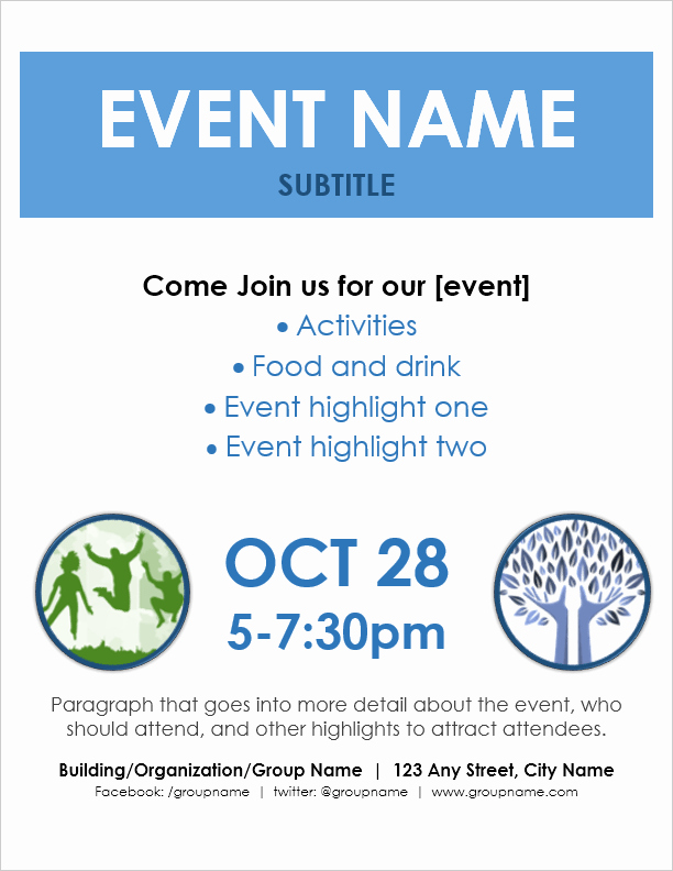 Free Flyer Templates for Word Unique event Flyer Template for Word