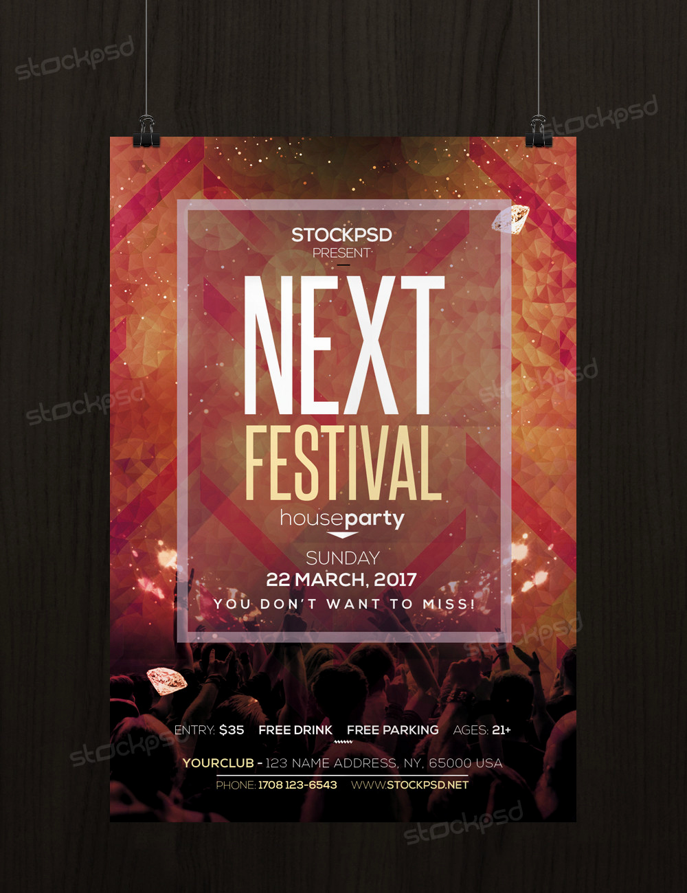 Free Flyers Templates Downloads Elegant Next Festival Free Psd Flyer Template Free Psd Flyer