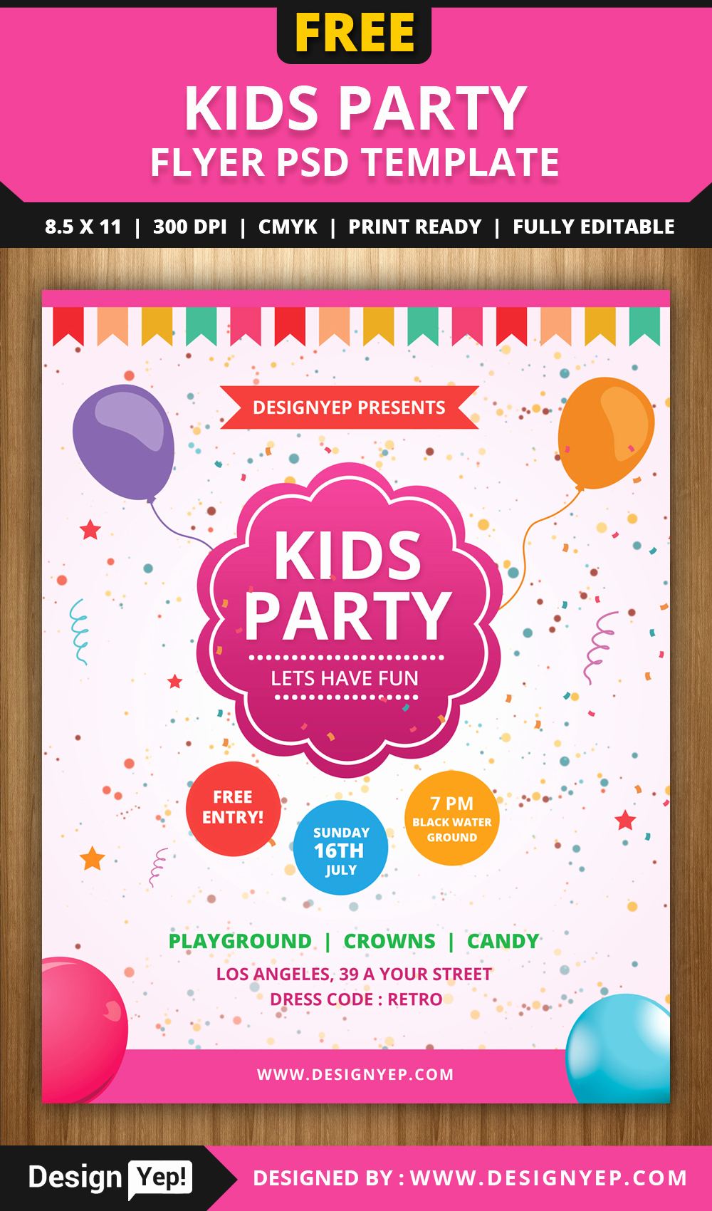 Free Flyers Templates Downloads Fresh Free Kids Party Flyer Psd Template Designyep