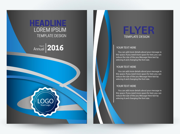 Free Flyers Templates Downloads New Vector Editable Flyer Template Free Vector