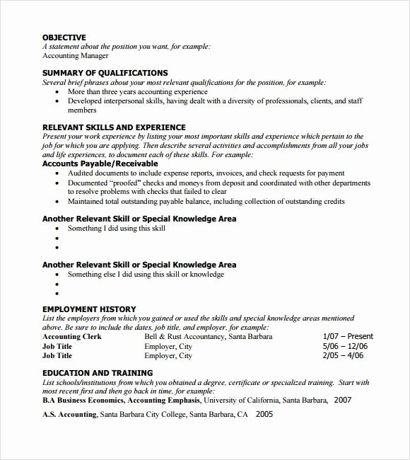 Free Functional Resume Template Beautiful 6 Sample Functional Resumes