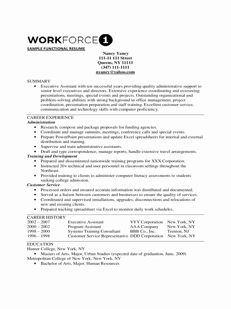Free Functional Resume Template Best Of 2019 Functional Resume Template Fillable Printable Pdf