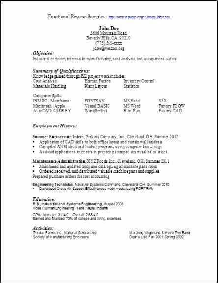 Free Functional Resume Template Elegant Functional Resume Samples Examples Samples Free Edit with Word