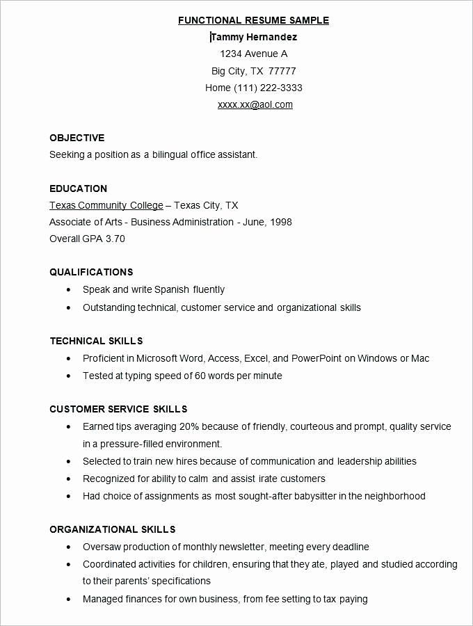 Free Functional Resume Template Elegant Professional Resume Samples Free Professional Cv Template