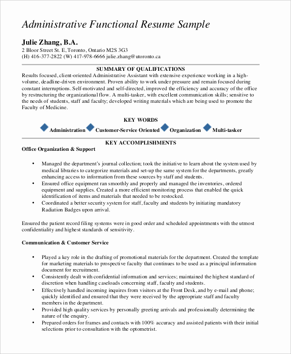 Free Functional Resume Template Fresh 10 Functional Resume Templates Pdf Doc