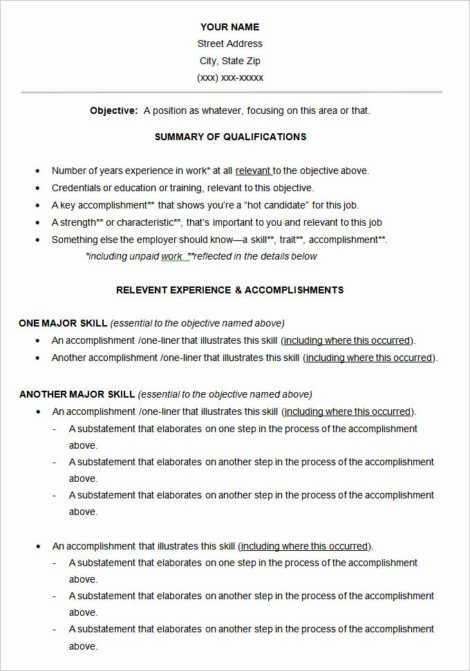Free Functional Resume Template Fresh Functional Resume Template – 15 Free Samples Examples