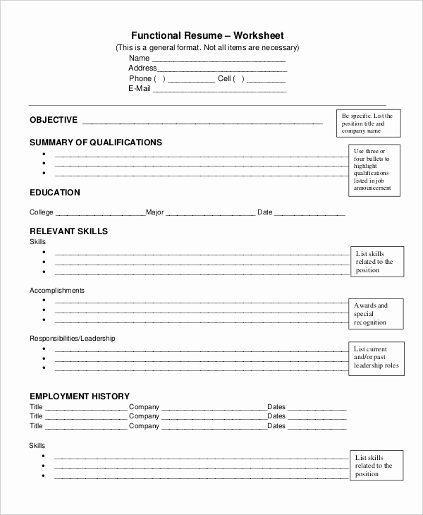 Free Functional Resume Template Luxury 10 Functional Resume Templates Pdf Doc