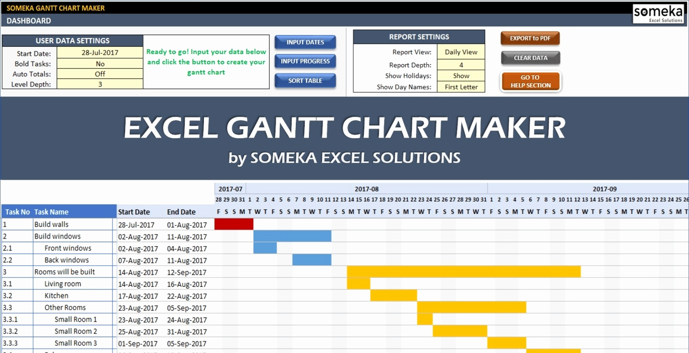 Free Gantt Chart Excel Awesome 10 Gantt Chart Templates & Examples Pdf
