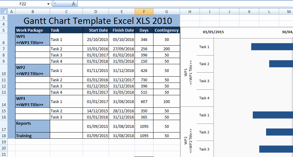 Free Gantt Chart Excel Awesome Creating Gantt Chart Template Excel Xls 2010 Free Excel