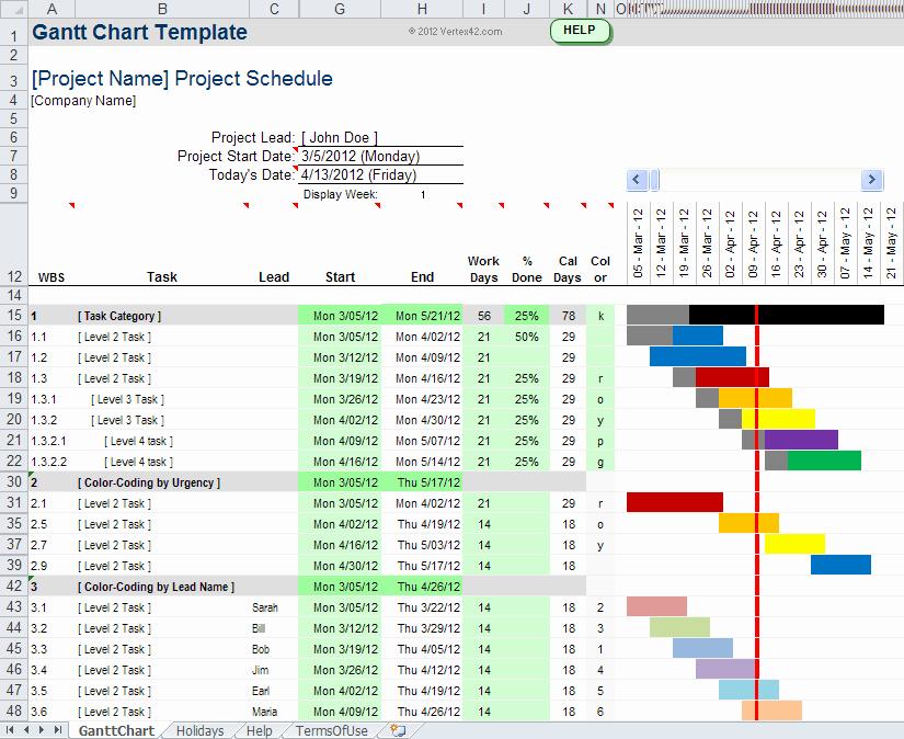 Free Gantt Chart Excel Lovely Gantt Chart Template Pro for Excel