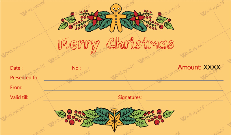 Free Gift Certificate Template Word Best Of 12 Beautiful Christmas Gift Certificate Templates for Word