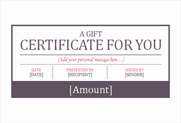 Free Gift Certificate Template Word Best Of 7 Hotel Gift Certificate Templates Free Sample Example