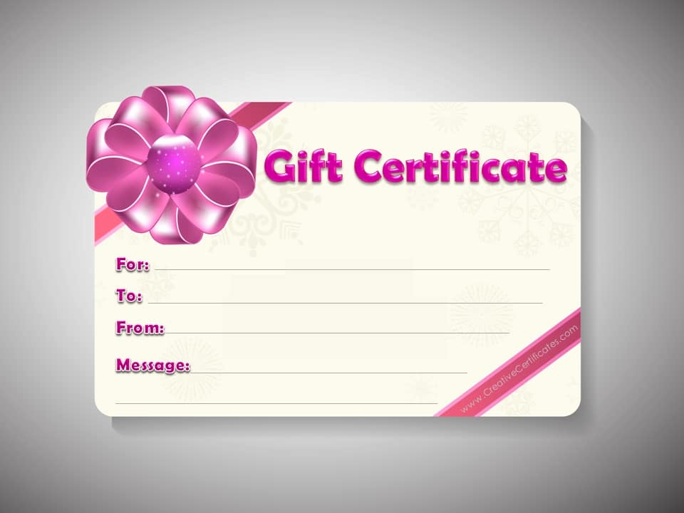 Free Gift Certificate Template Word Inspirational Free Gift Certificate Template Customizable
