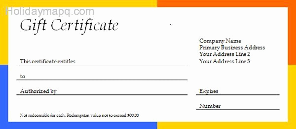 Free Gift Certificate Template Word Lovely Free T Certificate Template Holidaymapq